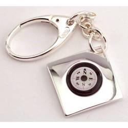 Engravable Compass Key Chain