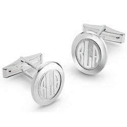 Sterling Silver Monogram Cuff Links