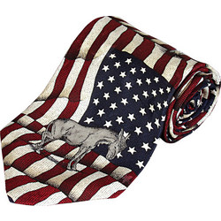 Democratic Donkey and Flag Tie