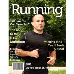 Running Personalized Magazine Cover Digital Print