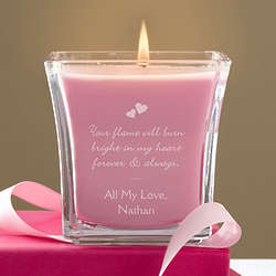 Personalized Flame of Love Scented Candle