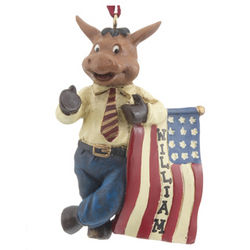 Personalized Democrat Donkey Christmas Ornament