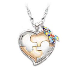 Personalized My Hero Autism Awareness Necklace