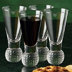 Golf Ball Shot Glass Set
