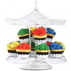 White Cupcake Carousel