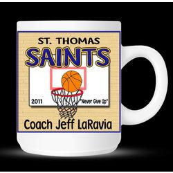 Personalized Basketball Coach and Player Mug