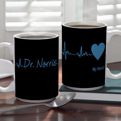 Heart of Caring Large Personalized Doctor Coffee Mug
