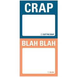 Crap and Blah Blah Sticky Notes