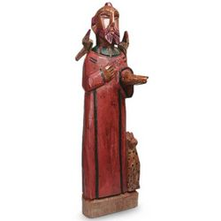 Saint Francis of Assisi Pinewood Sculpture