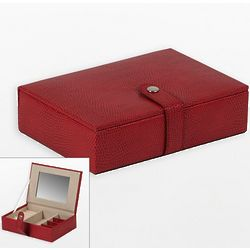 Heritage Red Travel Jewelry Box