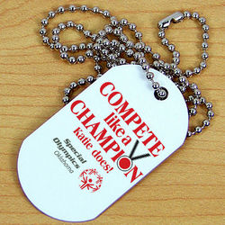 Compete Like a Champion Special Olympics Dog Tag