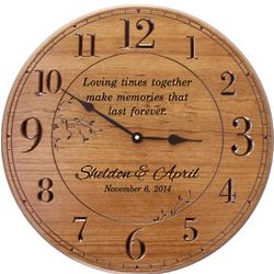 Large Personalized Wall Clock