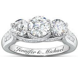 Diamonesk Personalized Bridal Ring