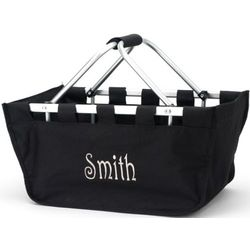 Carry All Collapsible Embroidered Tote Bag