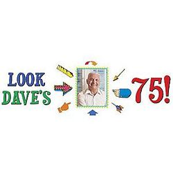 Personalized Look Who's Birthday Oversized Banner