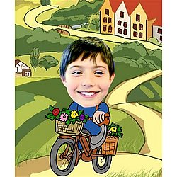 Your Photo in a Flower Delivery Caricature