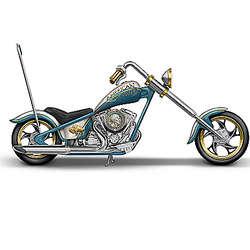 American Spirit Rider Buffalo Nickel Motorcycle Sculpture