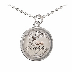 Be Happy and Enjoy Life Necklace