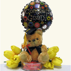 Congrats Grad Bear and Balloon Gift Set