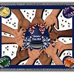 All 4 One Cheerleading Team Mom Tapestry Throw