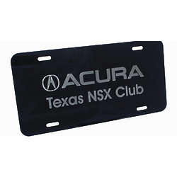 Personalized Black Anodized License Plate
