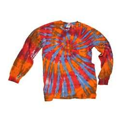 Orange Moxie Long Sleeve Tie Dye T