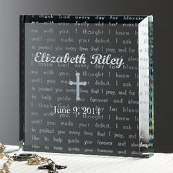 Walk with Jesus Personalized Baptism Block