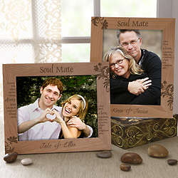 Personalized Soul Mates 8x10 Picture Frame