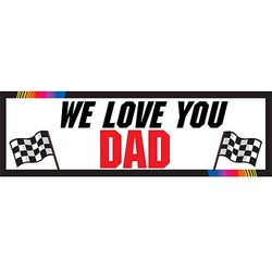 Personalized Father's Day Racing Banner