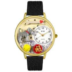 Schnauzer Watch with Miniatures