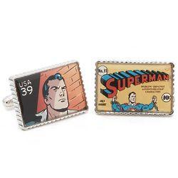 Superman Superhero Stamp Cuff Links