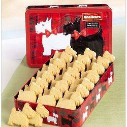 Scottie Dog Shaped Shortbread Gift Tin