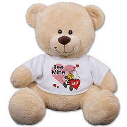 Personalized Bee Mine Teddy Bear