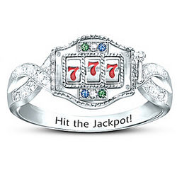 Sterling Silver Lucky Jackpot Ring