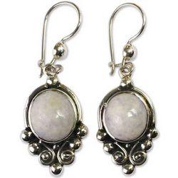 Praise Love Lavender Jade Dangle Earrings