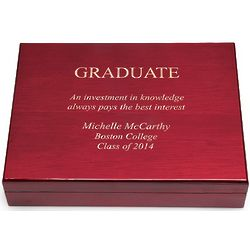Graduate's Personalized Humidor