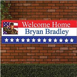 Personalized Welcome Home Oversized Banner