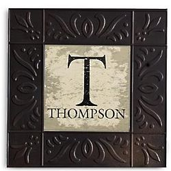 Personalized Vintage Embossed Metal Wall Art