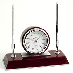 Dresden Quartz Clock and Pen Stand