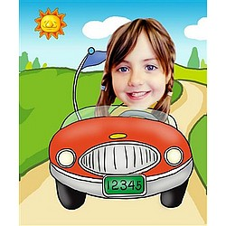 Your Photo in a Little Driver Caricature