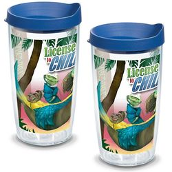 2 License to Chill Margaritaville 16 Oz. Tervis Tumbles with Lids