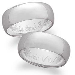 Sterling Silver Wide Band Message Ring