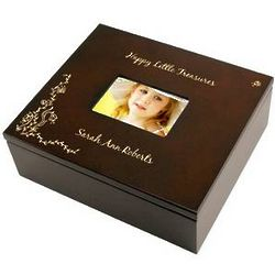TreasureTrinket Box with Picture Frame Lid