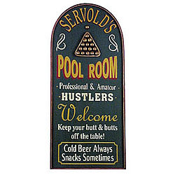 Personalized Pool Room Sign