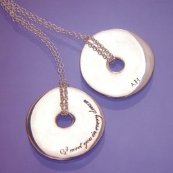 """I Meet You In Every Dream"" Hamilton Quote Sterling Necklace"