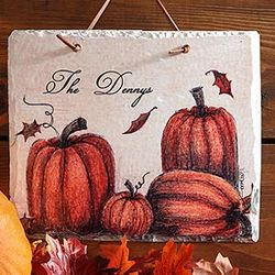 Autumn Pumpkin Patch Personalized Plaque