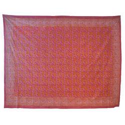 Pink Floral Provincial Print Tapestry