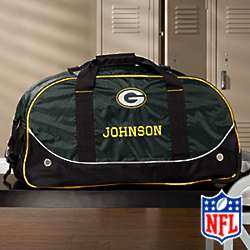 Personalized Green Bay Packers Rolling Duffel Bag