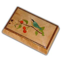 Wooden Blue Bird Music Box