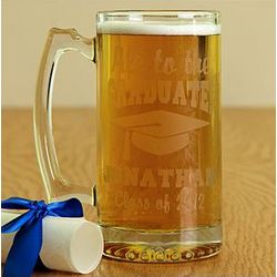 Personalized Ale To The Graduate Oversized Beer Mug